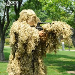 $enCountryForm.capitalKeyWord NZ - ROCOTACTICAL Advanced 3D Camouflage Suit Lightweight Sniper Ghillie Suit Paintball Wargame Camo Woodland