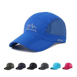 b1f28375f SUMMER outdoor quick-dry baseball hats mesh hat fashion sport casual  casquette sun caps foldable running travel cap wholesale