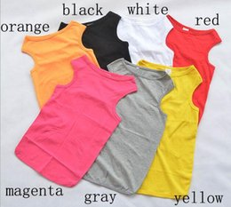 Wholesale 1pcs Large Dogs Spring Summer Vest Clothes Big Dogs Fashion Solid Color T Shirt Apparel Pet Costume Xs Xl