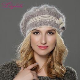 4beecc5ff2ad3 Discount angora hats - LILIYABAIHE NEW winterWomen beret hat knitted wool  angora beret The classic grid