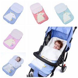 unisex baby blankets crochet 2019 - 70x40cm Baby Knitted Strollers Unicorn Sleeping Bag Crochet Blankets Cocoon Mattress Sofa Blanket Warm Soft Nursery Slee