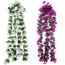 $enCountryForm.capitalKeyWord UK - Artificial Flowers For Wedding Decoration Cheap Silk Artificial Flowers Home Garland Fake Hanging Plants Party Supplies 5pcs  Lot