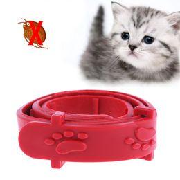 Discount dog rabbits - Red Adjustable Dog Cat Rabbit Neck Strap Anti Flea Mite Acari Tick Remedy Pet Collar Pet Supplies Four seasons