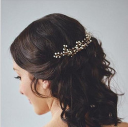 Wholesale Bridal hairpin, bridal crystal headwear, gold and silver wedding dress accessories