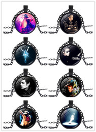 michael pendant Australia - Hot Sale!!5PCS Classic Black Chain Necklace Michael Jackson Glass Pendant Statement Cabochon Necklace Men Women Children Jewelry Gifts