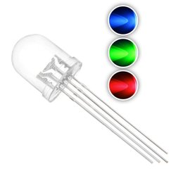 Diodes Rgb Multicolor Australia - 50 pcs 10mm RGB Tricolor LED Diode Lights (Multicolor Red Green Blue 4 pin Common Cathode Clear Round DC 20mA Color) Lighting Bulb Lamps Ele