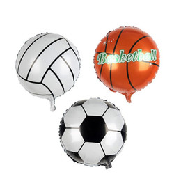 World Cup Decorations Australia - Football Balloon Basketball Foil Balloons for world cup inflatable balloon Children Toys birthday Party Decoration balloon T2I237