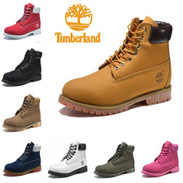 Gold toe brands online shopping - Original Timberland Brand boots Women Men Designer Sports Red White Winter Sneakers TBL Casual Trainers Mens Womens Luxury ACE boot
