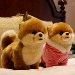 quality plush toys Australia - Hot Quality Realistic Pet Animals Plush Toy Mini Pomeranian Maltese dog Shiba Inu Doll for Kids Girl Gift Decoration DY50659
