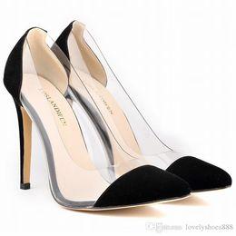 Beige Dress Color Shoes Canada - pointed toe large size black beige red green purple blue color 35-42 women dress shoes 472