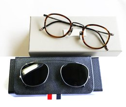 6a00bd3018 New York Round Reading Eyeglasses Frames Or Sunglasses men women Optical  Titanium prescription eyeglasses TB710 sun glass with clip with box