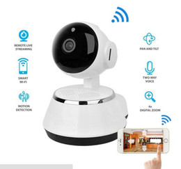Wholesale Micro Cctv Cameras NZ - Pan Tilt Wireless IP Camera WIFI 720P CCTV Home Security Cam Micro SD Slot Support Microphone P2P Free APP ABS Plastic with retail box