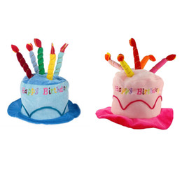 1PC Birthday Cake Caps 2 Colors Pet Hat For Dogs Cats Wonderful Gift Dog Hats A With Candles Shaped Cap