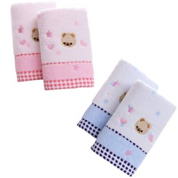 Discount cotton baby washcloths - 2 Pcs Baby Hand Towels Cute Cartoon Newborn Wipe Washcloths Infant Pure Cotton Baby Face Towel Water Absorption Soft, 25