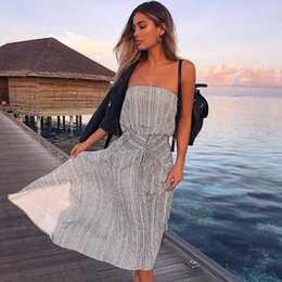 38437a097570 Wholesale 2018 New Trend Printed Chest Wound Women Clothes Ladies Leisure  Irregular Designer Dress Breast Wrap High Waist Casual Dresses