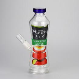 "$enCountryForm.capitalKeyWord UK - Juice Bottle Bong 8"" inches Spary Paint Can Glass Hookahs Enjoy Minute Buds 420% Juice Coke Bottle Glass Bubbler Pipes"