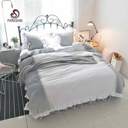 $enCountryForm.capitalKeyWord Canada - ParkShin Crystal Velvet Bedding Set Warm winter Bedspread Duvet Cover Set Cute Bed With Flat Sheet 4Pcs Twin Queen king size