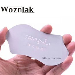 card glue 2019 - Wozniak Handy metal Card Pry Opening Scraper for For Glued Screen Stainless Steel Repair Tool cheap card glue