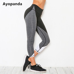 $enCountryForm.capitalKeyWord NZ - Ayopanda 2017 Hot Sale Black White Grey Contrast Yoga Pants Women High Quality Fitness Capri Quick Dry Cropped Trousers Leggings