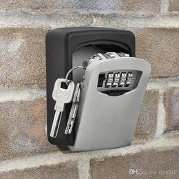 Wall Mount Storage Organizer Australia - Hot sale Home wall mounting type key storage box outdoors padlock key box password organizer box T3I0171