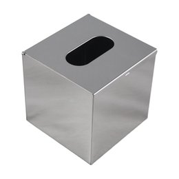 Towel dispensers online shopping - UESH Stainless Steel Handkerchief Dispenser Cosmetic Towel Tissue box Silver