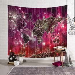 Cotton World Map Australia - New 3D World Map Galaxy Polyester Wall Tapestry Home Living Decor Space Beach towel tablecloth 130*150cm