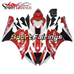 customize motorcycle fairings Australia - Red White Motorcycle Full Fairing Kit For Yamaha YZF600 R6 YZF-R6 Year 2006 2007 Sportbike ABS Motorcycle Body Kits Free Gifts Customize