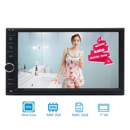 "$enCountryForm.capitalKeyWord Canada - 7"" Android 7.1 Nougat System Double 2 Din Car Stereo Octa-Core NO DVD GPS Navigation HeadUnit Bluetooth Capacitive TouchScreen GPS AM FM"