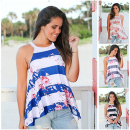 276238147806f Plus size halter toP shirts online shopping - Floral Print Sleeveless T  shirt for Maternity Women