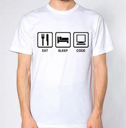 Programs Computers Australia - Eat Sleep Code Repeat T-Shirt Computer Programming Nerd Geek Top