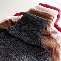 f311a619c1 New Glitter Turtleneck Women Pullover Sweater High Elasticity Knitted  Ribbed Slim Jumper Autumn Winter Basic Female Sweater Y1891902