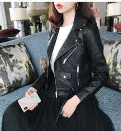 $enCountryForm.capitalKeyWord Canada - Korean version of the spring and autumn women's motorcycle leather jacket small leather jackets coat