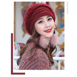 8c23b4d6e23 Ladies knitted hat online shopping - New Arrival Elegant Women Knitted Hats  Rabbit Fur Cap Autumn