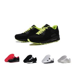 lowest price ad4b2 36990 2018 Hot Sale Cushion 90 Running Shoes Mens Womens Fashion Designer Sport Sneakers  Outdoor Trainers Casual Trails Cheap Sports Shoe 36-45