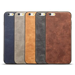 China Vintage PC Leather phone Case for iPhone 6 6s 7 8 Plus X Note8 S8 S8Plus Back Cover Shell Coque Business Cases suppliers