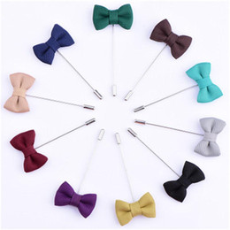 $enCountryForm.capitalKeyWord UK - Fashion butterfly Lapel Pins Men broochPin cloth Men Brooch for Suits Handmade Stick Brooch Pins 10pcs lot
