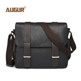 be3b0fe4562e Canvas Leather Crossbody Bag Canada - AUGUR Men Bag Shoulder Leather And  Canvas Business Messenger Bag