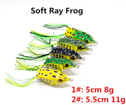 $enCountryForm.capitalKeyWord NZ - 5cm-8g 5.5cm-11g Soft Rubber Body Smulation Ray Frog Blackfish Crankbaits lure 5color Topwater Swimming Freshwater fishing bait