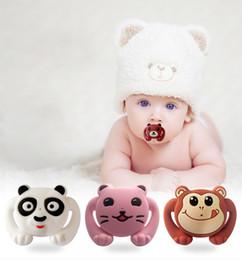 Wholesale non toxic unique design bear animal carton cute silicone baby pacifier kids soother newborn sucker toddler