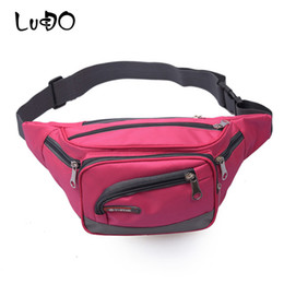 running waist pouch UK - LUCDO Unisex Waist Bags Fanny Packs sac banane Fashion Mobile Phone Bag Money Belt Bag Nylon Casual Running Sports Hip Bum Pouch