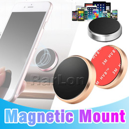 Wholesale Stick Magnetic Car Phone Holder Universal Mini Cell Phone Car Mounts For iPhone X Samsung Smartphones GPS Devices With Retail Box