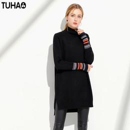 9f8261731af3 TUHAO Dolcevita coreano Abito a righe Donna lavorata a maglia Abiti  oversize Donna inverno High Street Plus Taglia 5XL YZ02