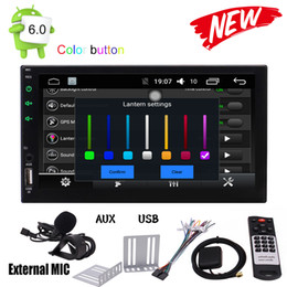 Chinese  Android 6.0 Marshmallow 7'' HD Digital Touch Screen Car Stereo Double Din Quad-core Multimedia Player GPS Navigation GPS Sat Nav Bluetooth manufacturers
