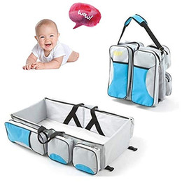 changing diapers baby UK - Premium 3 in 1 Multi-Functional Travel Diaper Bag Portable Bassinet & Changing Pad Station Essential For Mom Perfect Baby Shower Gift