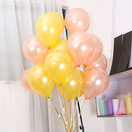 Wholesale Rose Gold Heart Star Foil Latex Balloon Set Latex Anniversary Baby inch Gold Latex balloons Shower Party Decoration Romantic Weddings