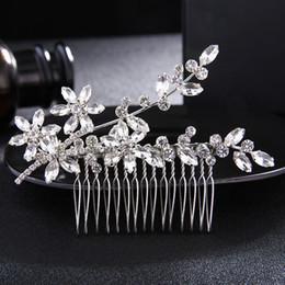 Опт Классический Кристалл горный хрусталь расчески для волос свадебные заколки ювелирные изделия свадебные аксессуары для волос головные уборы женщины диадемы JCH138