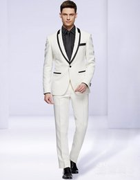 Plus Size Linen Suit Canada - 2019 New Design Pink Linen Beach Wedding men Suits 2 Piece Groom Tuxedo Men Prom Dinner Suits Best Linen Man Groomsman Suit