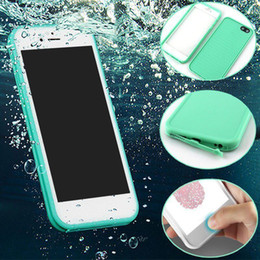 Iphone water dust proof online shopping - For Iphone X Case S7 Waterproof Case TPU Rubber Full Boday Cover For iphone plus Plus Shock proof Dust proof Underwater Cases