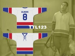 Real Men real Full embroidery  8 Adam Sandler Happy Gilmore 8 Hockey Jersey  or custom any name or number Hockey Jersey d0b44f4ff