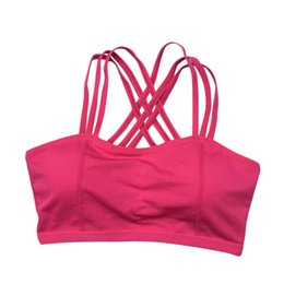 Chinese  Women Sports Bra Workout Yoga Fitness Tank Top Stretch Seamless Racerback Padded manufacturers